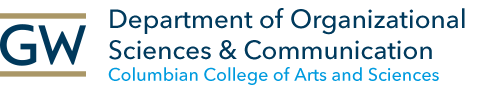GW Department of Organizational Sciences & Communication, Columbian College of Arts and Sciences (Logo)