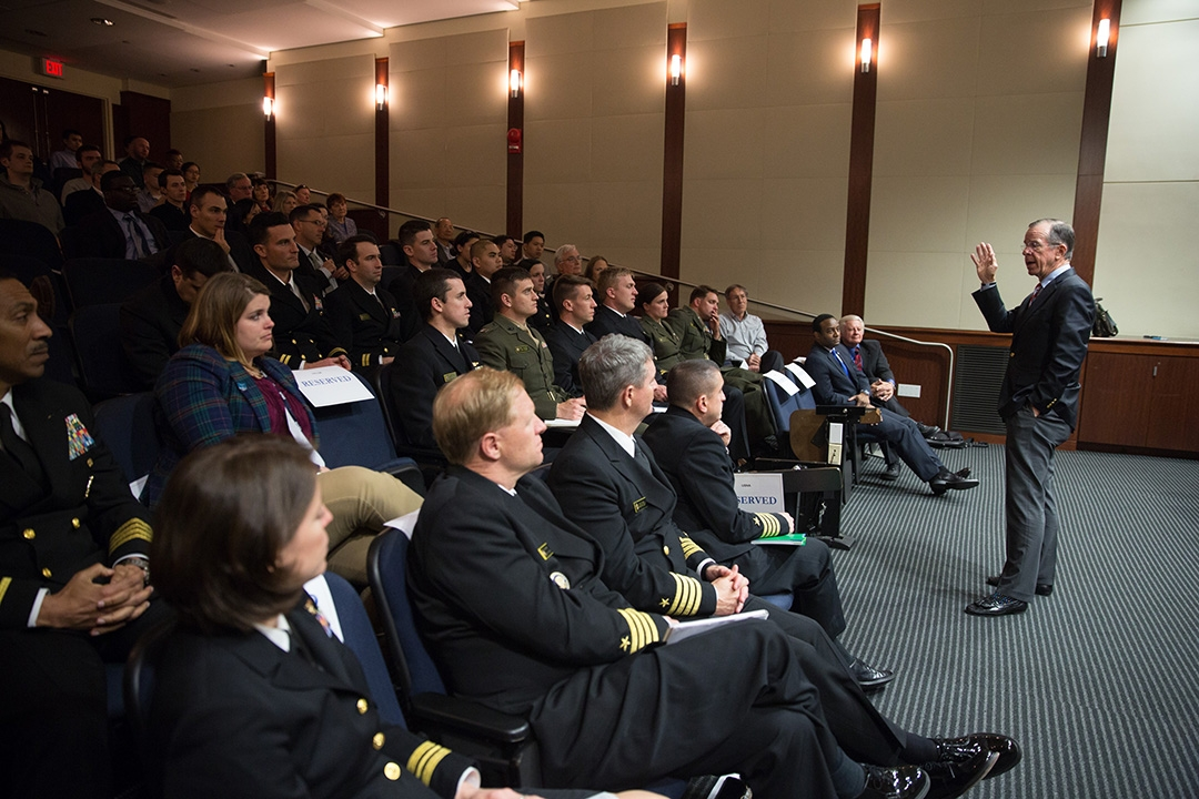 Adm. Michael Mullen addressed the responsibilities he faced as chairman of the Joint Chiefs of Staff.